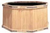 Vaso legno Acacia esagonale